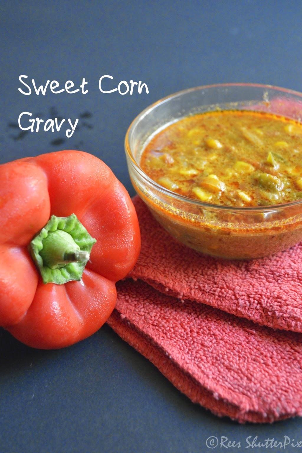 Sweet Corn Gravy Recipe | Side Dish for Chappathi