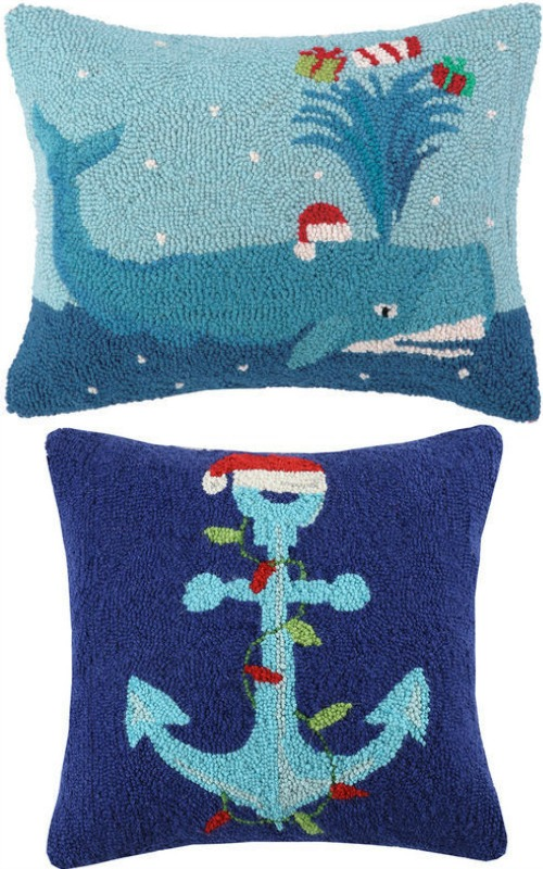 Nautical Santa Hat Pillows
