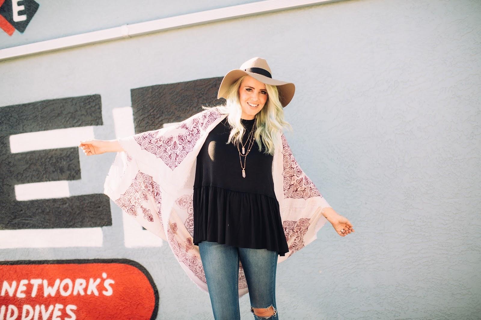 Fashion Blogger, Kimono, Peplum Shirt