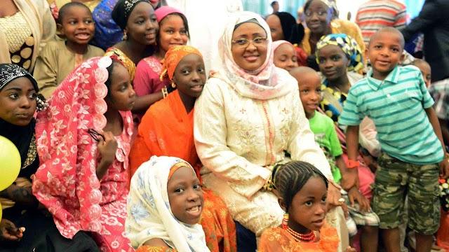 Aisha Buhari advises patients on nutrition, regular medication