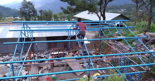 Construction of Libraries in 4 VDCs in Ilaka 12, Sindhupalchok district commences