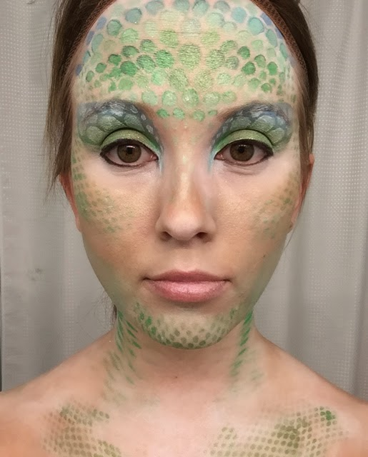 Mermaid makeup scales