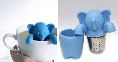 Diseño y elefante a la hora del té.