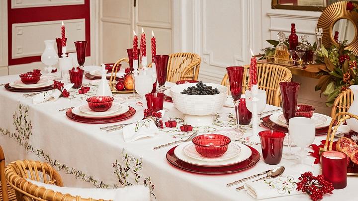 Toalhas de mesa para mesa de natal decora o e ideias for Tovaglie natalizie ikea
