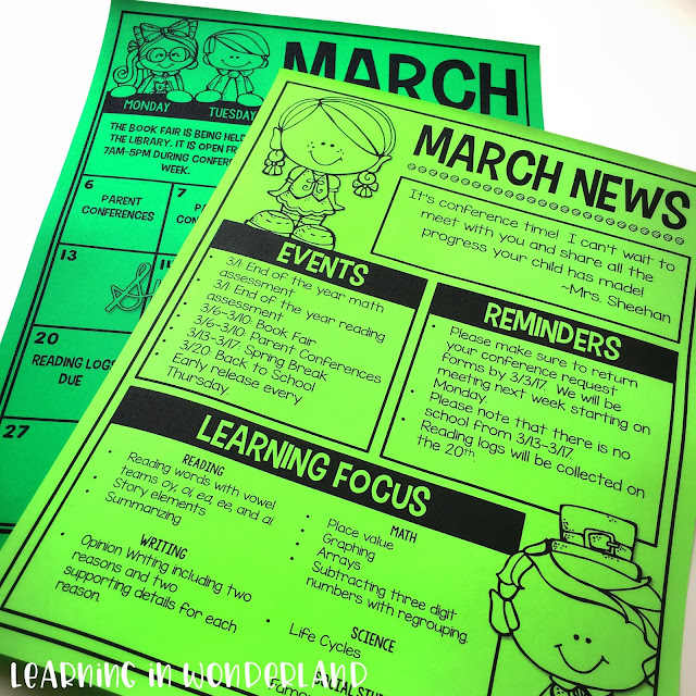 Newsletters that are easy to edit and read! Great for parent communication!