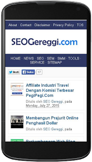 Pengujian Situs Mobile Friendly SEOGereggi.com