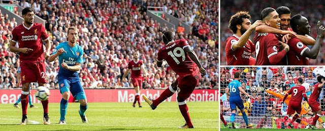 Liverpool 4-0 Arsenal Highlights (Firmino and Mane first half goals rattled Arsenal at Anfield)