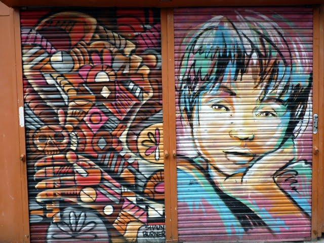 Graffiti en tiendas de Manchester