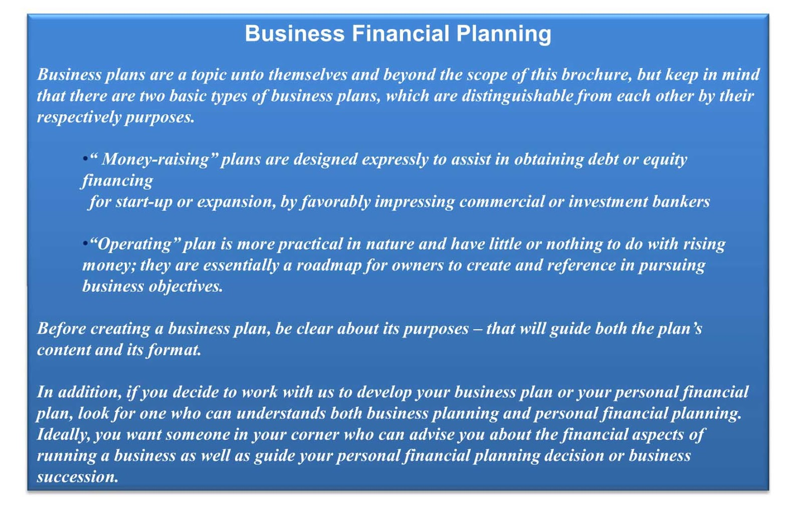 Financial Risk Management Consultancy: Business Financial