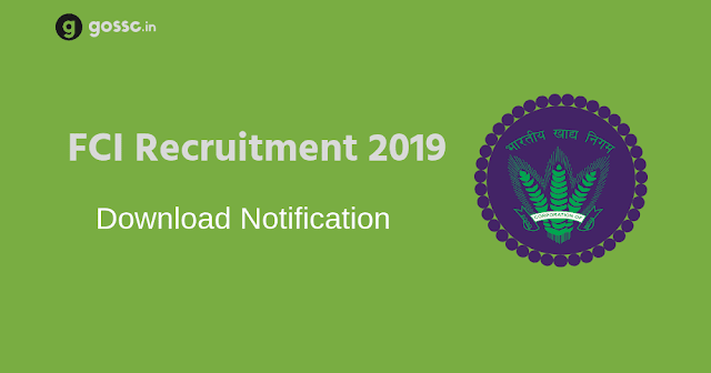FCI Recruitment 2019 Notification