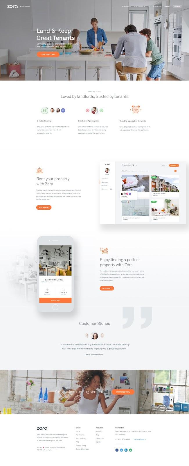 Zora Homepage