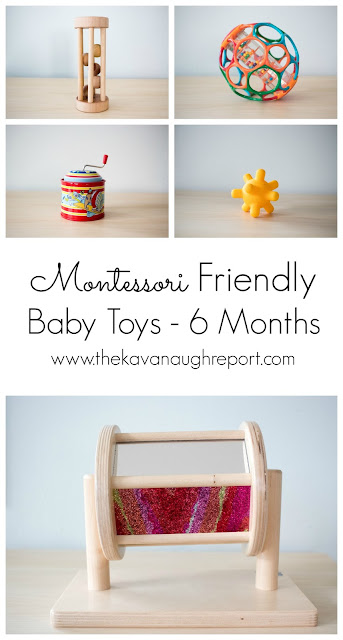 A look at our favorite Montessori friendly baby toys at 6 months old.