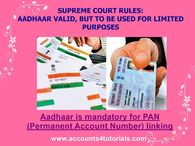 aadhaar card is mandatory for PAN linking