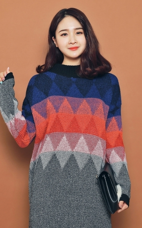 Multicolored Sweater Dress