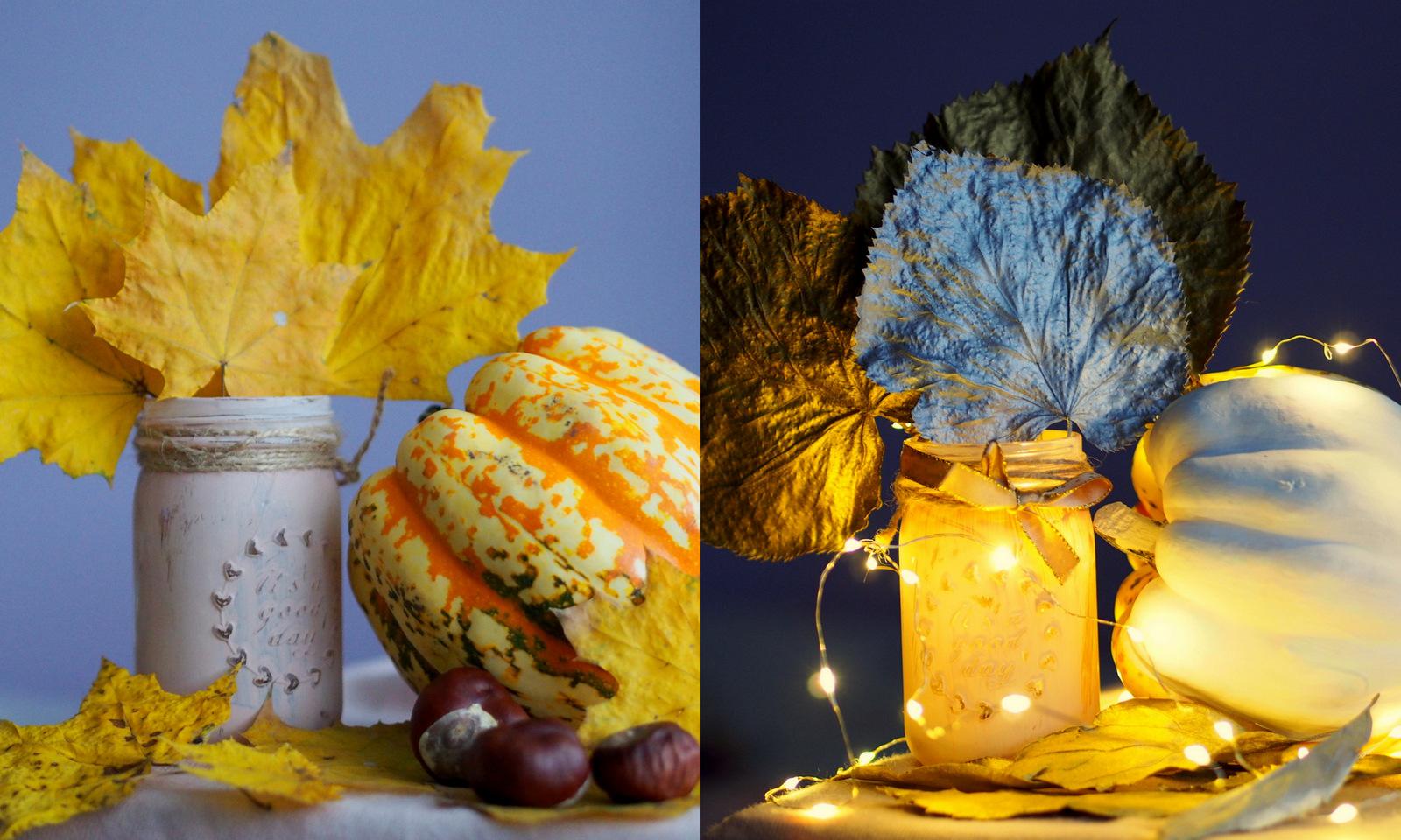 DIY: ako z jesennej dekorácie urobiť vianočnú dekoráciu // from autumn to winter