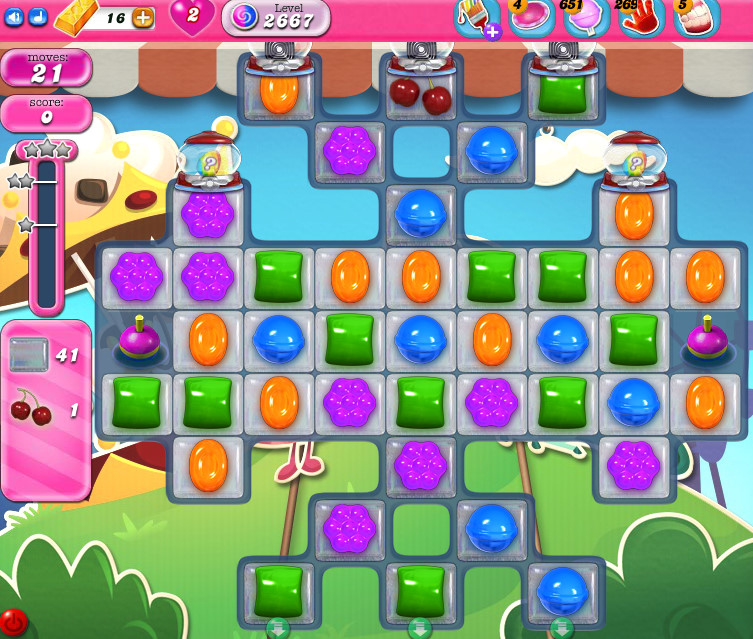 Candy Crush Saga level 2667