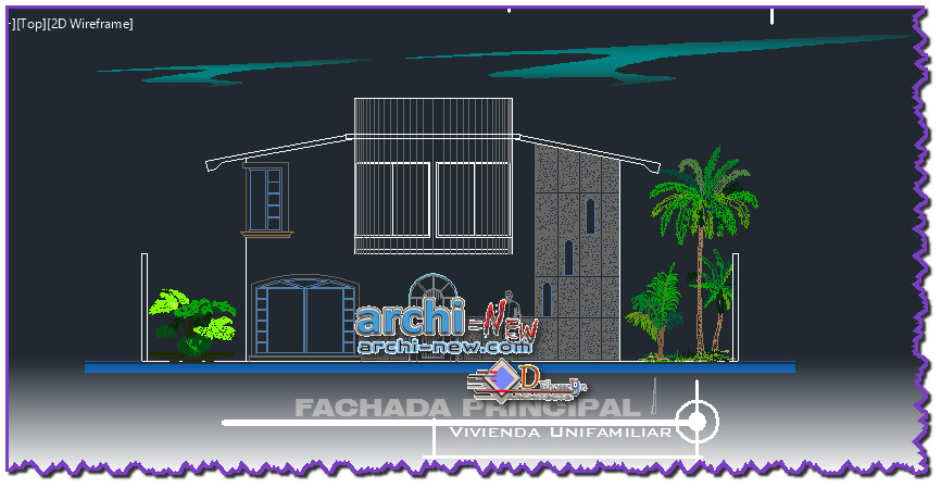 Download AutoCAD DWG file House of two Planets semicircle