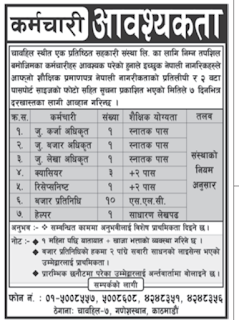 Carrer Opportunity in  Cooperative in Chahabil, SLC pass can apply