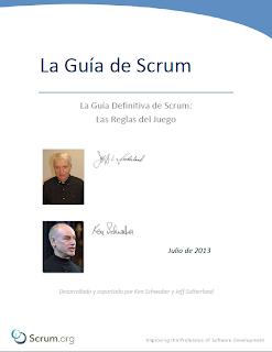 Portada de la Guía de Scrum 2013 en español