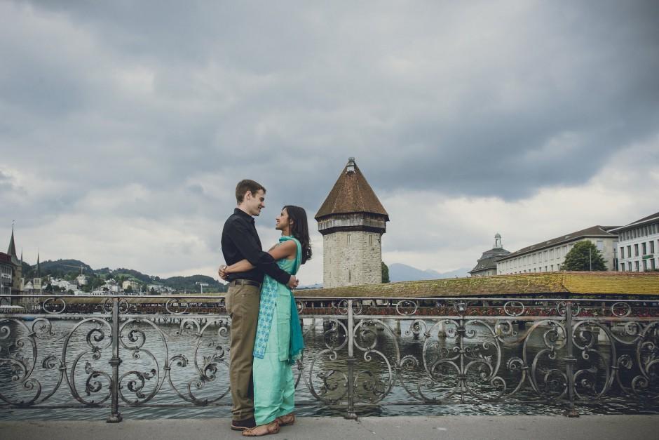 Plan Your Honeymoon in Switzerland | Couple in Lucerne