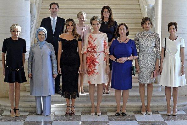 Melania Trump, Emine Erdogan, Amelie Derbaudrenghien, Mojca Stropnik, Thora Margret Baldvinsdottir, Brigitte Macron, Ingrid Schulerud, Desislava Radeva