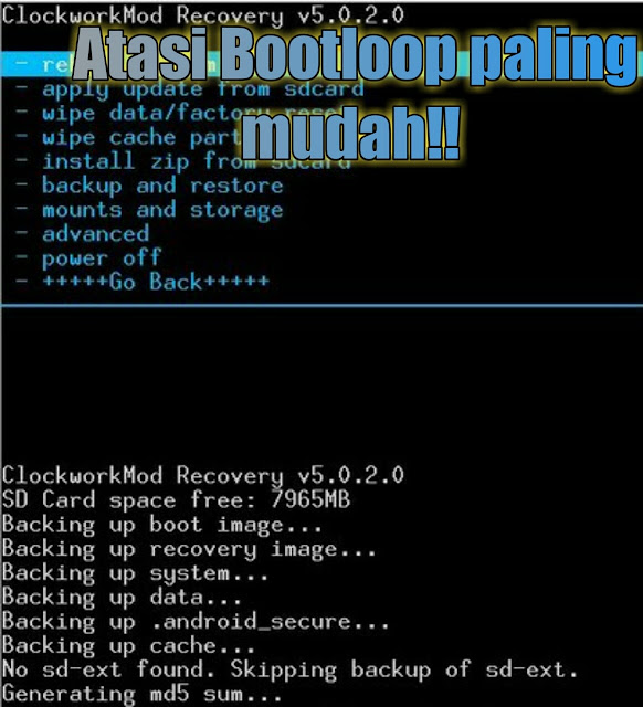 2 Cara atasi bootloop asus zenfone 5 (  via Adb FastBoot Tool dan recovery mode)