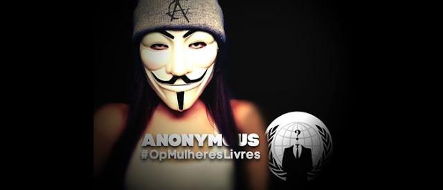 Anonymous caça perfis de acusados de estupro e divulgadores do assunto.