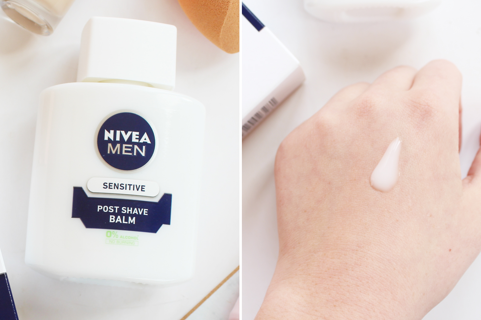 CAN A MEN'S POST SHAVE BALM REALLY WORK AS A PRIMER? - Nivea Men's Post Shave Balm Review - CassandraMyee