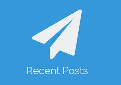 Cara Membuat Recent Post Responsive, Keren, Simple dengan Thumbnail Bergerak Dari Atas Kebawah