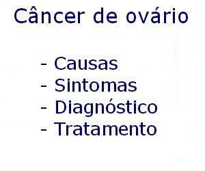 Câncer de ovário causas sintomas diagnóstico tratamento prevenção riscos complicações