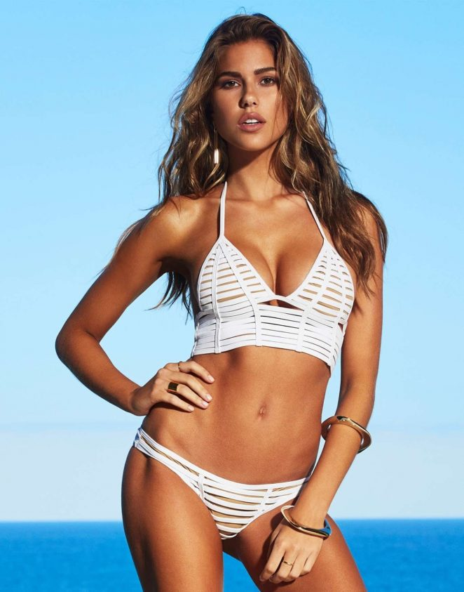 Beach Bunny Swimwear Lookbook 2016 featuring Kara Del Toro