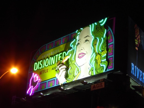 Neon Disjointed moving hand billboard