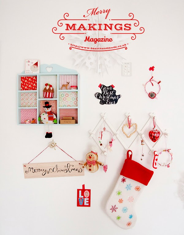 Christmas craft room wall decor with DIY projects from #merrymakings magazine