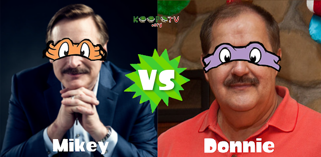 Mike Lindell Don Blankenship KoopaTV Splatfest Mikey vs. Donnie TMNT Teenage Mutant Ninja Turtles MyPillow Massey Energy