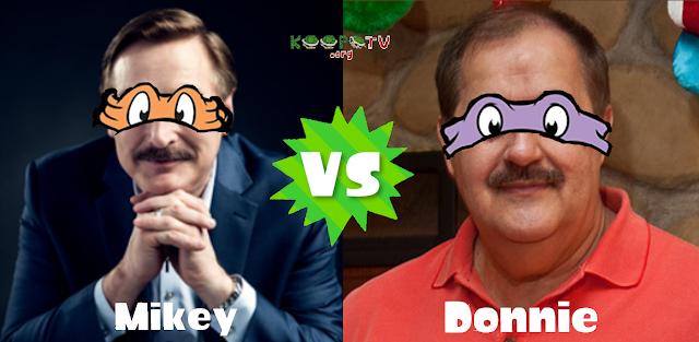 Mike Lindell Don Blankenship KoopaTV Splatfest Mikey vs. Donnie TMNT Teenage Mutant Ninja Turtles MyPillow Massey Energy
