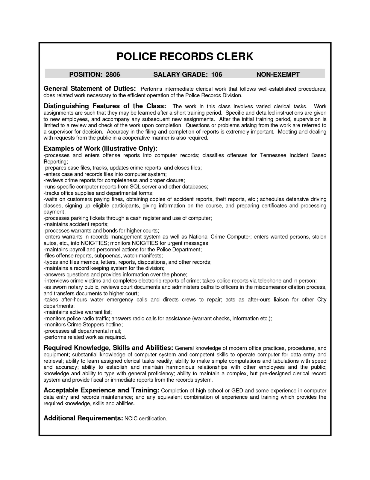 clerical resumes examples clerical resumes examples template