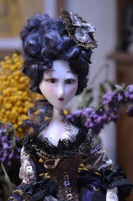 marquise tatoué cernit dolls création Cathy Vagnon