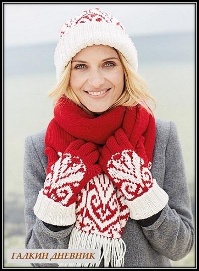 shapka-sharf-i-perchatki-spicami | 針織 针织 | 뜨개질을하는 | trikote | adīšana | mezgimas
