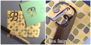 DIY tutorial how to create your own stencils to etch monogrammed wine glasses.