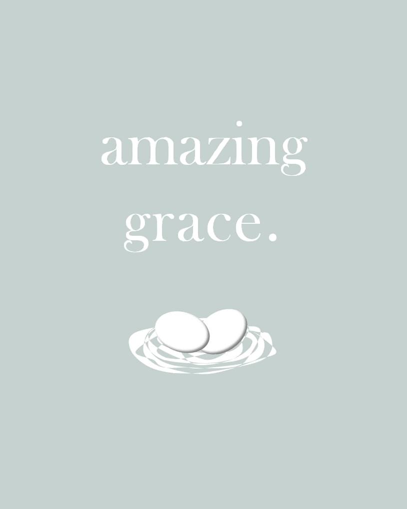 Holiday Snob: Amazing Grace Printable