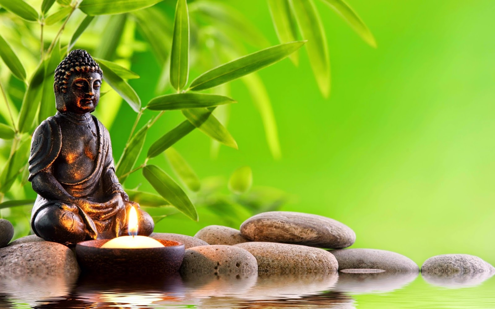 Hd wallpaper zen - Buddha Zen Style Meditation Candle Rock Images Jpg