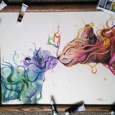 Acuarelas y lápices de color prismacolor