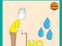 Tebak Gambar Orang Tua NG dan Tetesan Air
