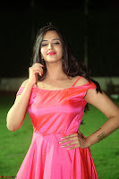 Actress Pujita Ponnada in beautiful red dress at Darshakudu music launch ~ Celebrities Galleries 034.JPG