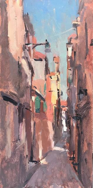 #372 'Venetian Alleyway' 6×12″