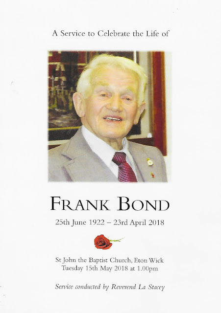 Frank Bond in his own words