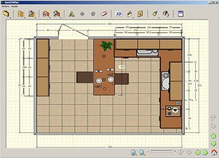 Programa de dise o de cocinas quick3d plan for Programa diseno cocina online gratis