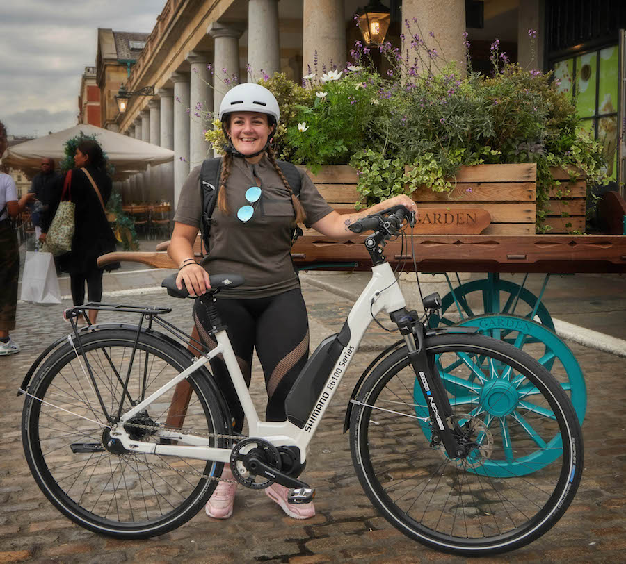 Shimano e bike London - Tess Agnew fitness blogger