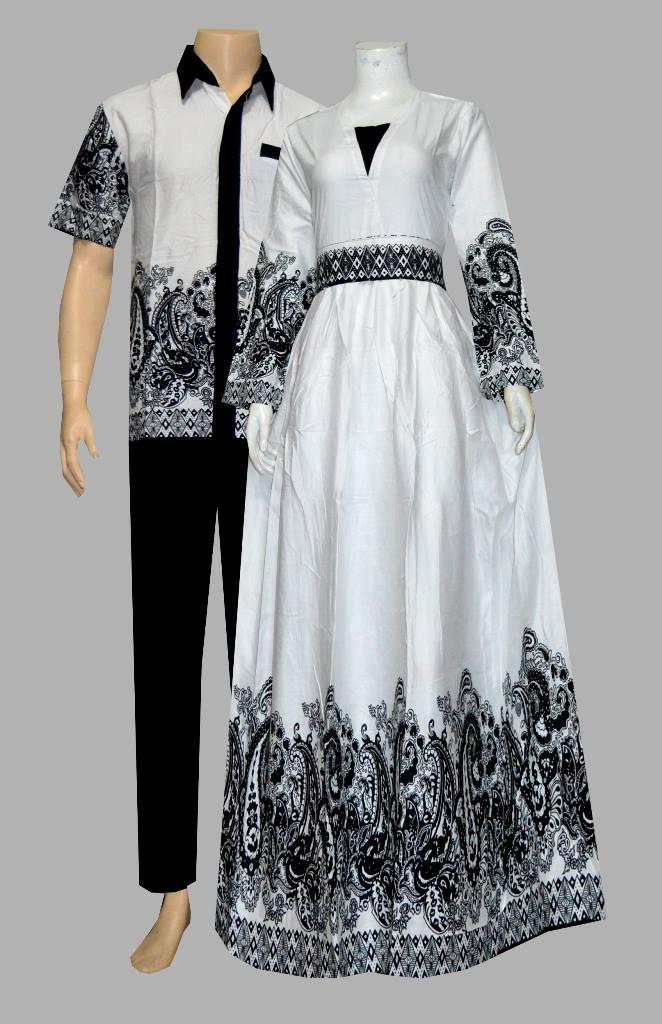 Couple Gamis Batik Modern Anisa D1906 Batik Bagoes Solo