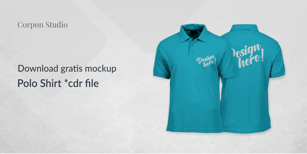 Download Mockup Polo Shirt CDR Version